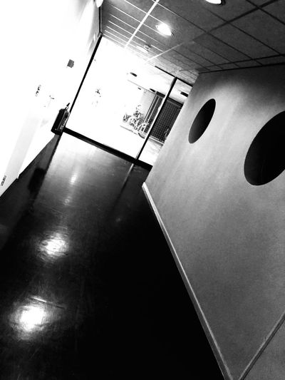 Bye bye Office, see you monday Wall - Building Feature Indoors  Low Angle View No People Surface Level Blackandwhite IPhoneography