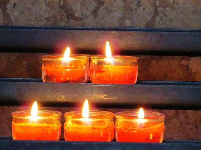 Burning Flame Candle Illuminated Austria Innsbruck Church Vela Chama Fire Fogo Velas