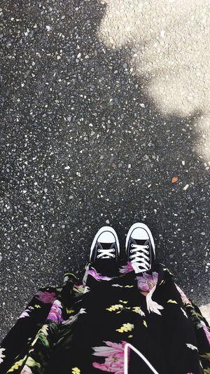 Don't Cry Shoe Girls Girl Love BlackDress Black Flower Flowers Converse Footwear Shoes Dress Zara
