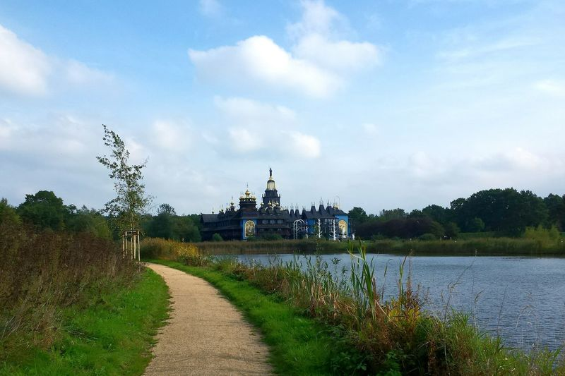Water Tranquil Scene Sky Glockenpalast Travel Destinations Scenics Architecture Gifhorn Tourist Attraction  Ladyphotographerofthemonth No People Tourism Countryside Grass Walkway The Way Forward Lake Footpath Pathway Building Exterior Cloud - Sky Place Of Heart
