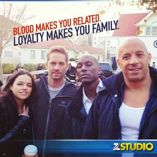 I Don't Have Frndz....I Got A Family Fast & Furious 7 Awesome Movie Awesome Music Love U Paul Walker RIP...