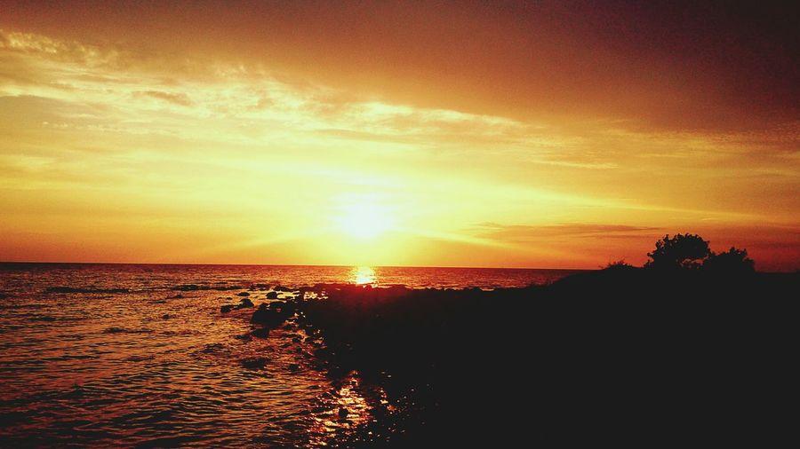 Själsö Hamn Hamn Sunset