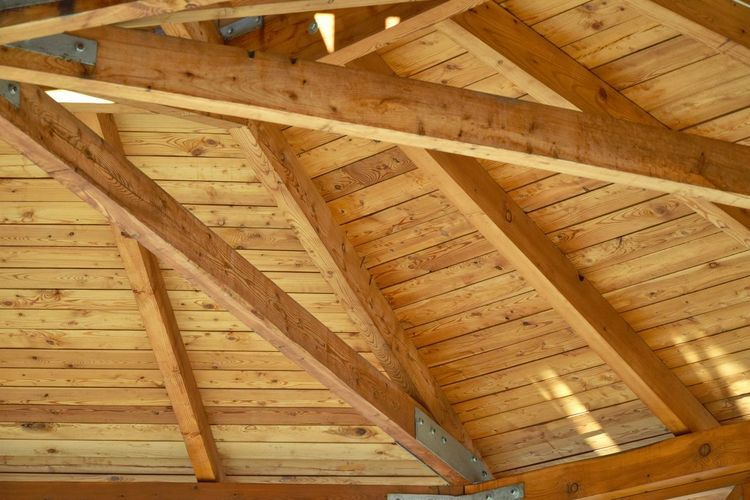 Brown Full Frame Indoors  Inner View Man Made Object No People Repetition Roofing Wood Wood - Material Wooden