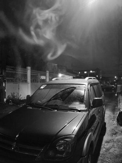 Smoked Smoked Monochrome Night Smoke HUAWEI Photo Award: After Dark Car