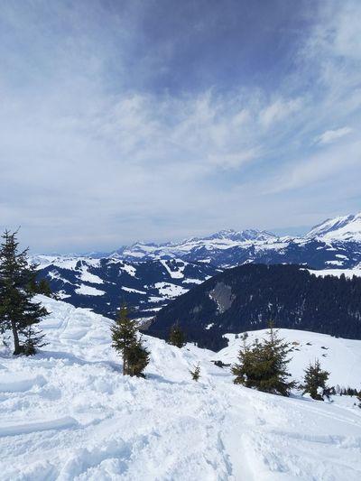 What a view... Snow Mountain Cold Temperature Winter Frozen Water Polar Climate Snowing Sky Landscape Mountain Range Deep Snow Powder Snow Frozen
