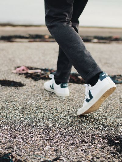 Veja shoes Veja Shoes Veja Low Section Human Leg Shoe Standing Day One Person Outdoors Human Body Part Real People Adult Adults Only People Sand One Man Only Close-up Lifestyles Beach Nature