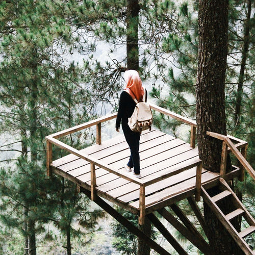 Holiday Visual Creativity Tree Full Length Young Women Women Standing Warm Clothing Railing Sky Snowcapped Mountain Snow Growing Winter Cold Temperature Footbridge Weather Condition Icicle Snowcapped Snowfall Covering Season  Snow Covered Foggy Frozen Deep Snow Cold Wooden Hiker