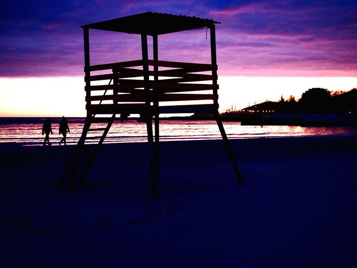«Закат 17». Sky Sea Beach Silhouette Tranquil Scene Tranquility Sunset