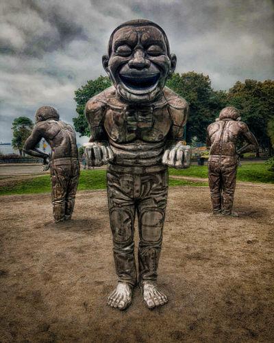 Art is Everywhere Creativity Human Representation Male Likeness Matel Matel Man Outdoors Sculpture Statue
