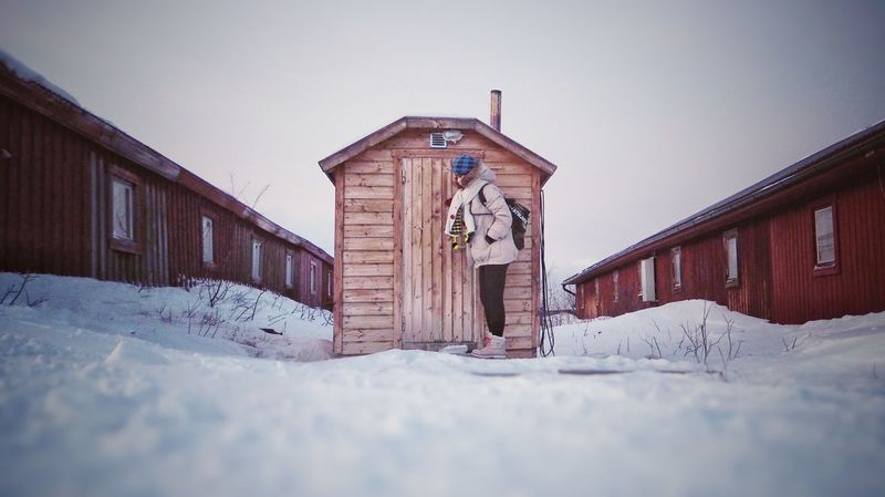 Snow Winter Built Structure Cold Temperature No People Outdoors Sweden Abisko