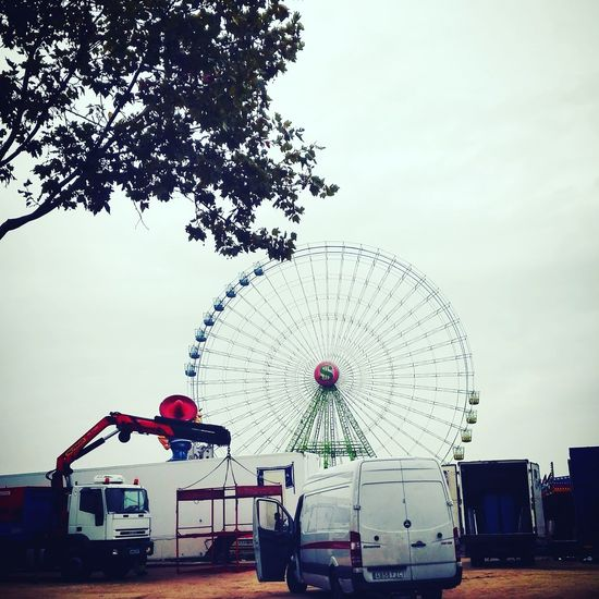 Ferris Wheel Sky Outdoors Morning Morning Light Winter Is Coming Ligth Carnival But First Work Working Studying Cheer Up