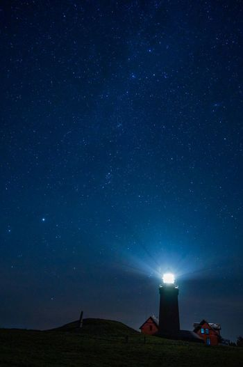 Lighthouse Denmark ll EyeEmNewHere Night Star - Space Space Astronomy Building Exterior Lighthouse Tower Galaxy Star Field