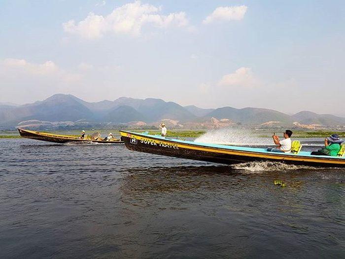 INLE LAKE Inle Inlelake Myanmar Lake Igersmyanmar AOV Artofvisuals Instagood Instagram Sky Burma Asiaonetravelsnaps Boat Yourworldgallery