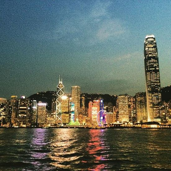 Many wonderful evenings I've spent in Hong Kong, this was one of them HongKong Hongkongskyline Travel Skyscraper Traveling Travelphotography Travelpics