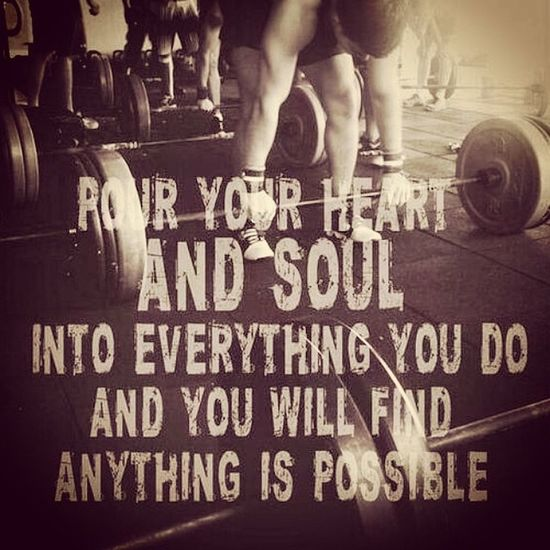 Some inspiration :') Inspire Powerlifting Powerlifter Soul heart love possible weightlifting gym gymquotes quotes