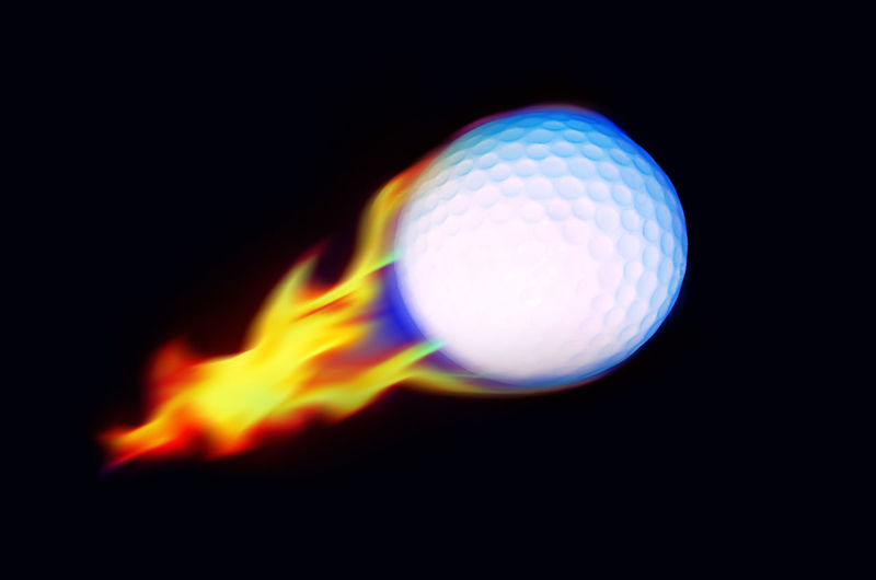 Golf ball fire burning on dark background, high speed power ball concept. Flame Golf Light Power Abstract Ball Balloons Black Background Burning Close-up Compare Creative Fast Fire Flamable Flame Golf Heat - Temperature High Angle View High Speed Motion Move Night No People Speed