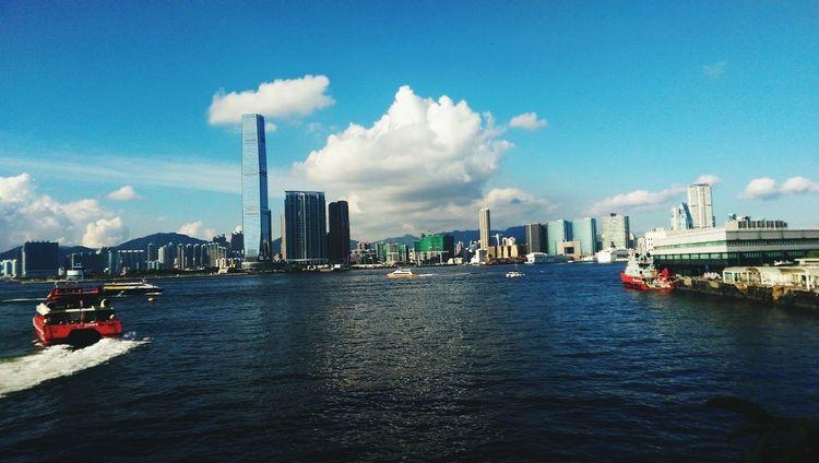 Summer 2014 Hong Kong Traveling Cityscapes Sea And Sky