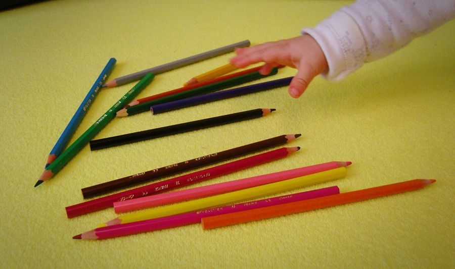 Yellow Colors Colours Pencils Pencil Drawing Rainbow Colors Baby Baby Hand Stolen Stole  Colors Pencil Pencil New Toy Babylife The Week Of Eyeem Open Edit OpenEdit
