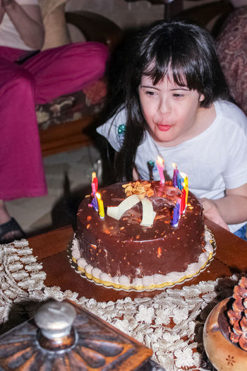 HAPPY BIRTHDAY Kid Kids Happiness Blowing Candles Birthday Cake Cake This Is Family Young Women Birthday Cake Party - Social Event Happiness Beauty Birthday Dessert Sitting Birthday Candles Celebration