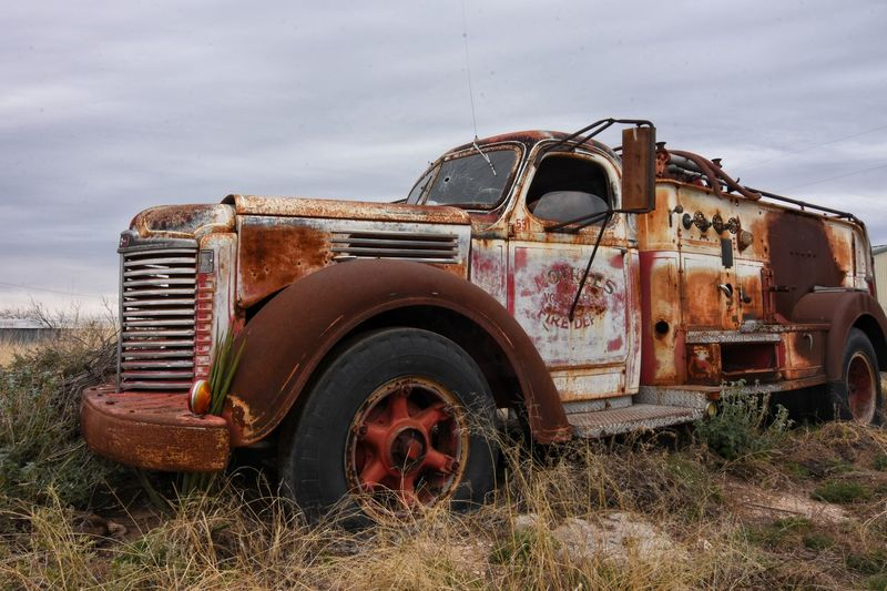 Old Rusty Old-fashioned Obsolete Abandoned Antique Sky Damaged Nostalgia Weathered No People Bad Condition Cloud - Sky Nature Outdoors Day Old Truck Photography Antique Eyeemphotography West Texas EyeEm Gallery Antiquecollection Texas Photographer This Week On Eyeem Firetruck
