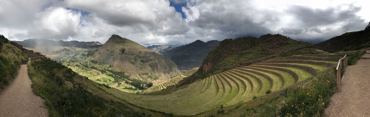 Pisac Ruins EyeEm Selects Cloud - Sky Scenics - Nature Sky Landscape Beauty In Nature Environment Tranquil Scene Agriculture Field Day Tranquility Growth Crop  Rural Scene Green Color No People Mountain Land Nature Plant