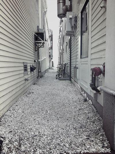 white alley Cape Cod Provincetown  Blackandwhite Architecture