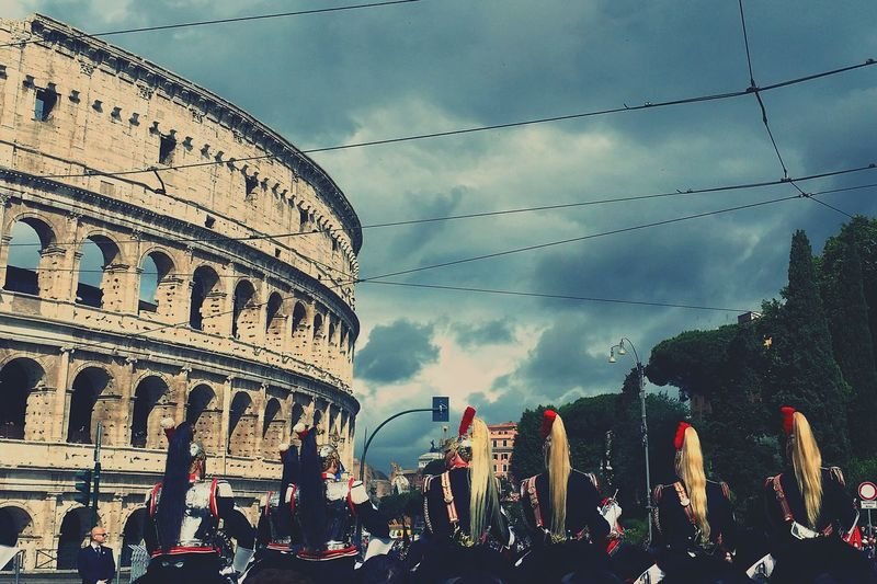 Guards in front of colosseum on republic day