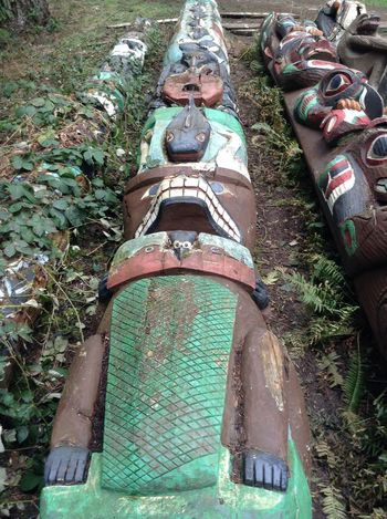 totem poles Nature Totem Pole Back To Mother Earth Canada Carvings In Wood Decompose Indigenous  Native Art Outdoors Return To Nature Spirit Animal Tree
