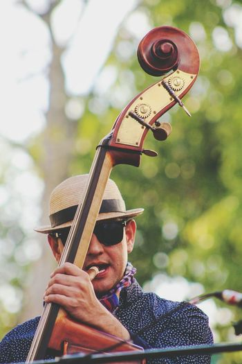 Musician Performing Outdoors