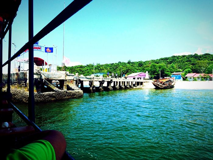 Nautical Vessel Water Travel Destinations Tourism Outdoors Day Tree Sky Vacations Harbor Sea Green Color Forest SICHANGISLAND SichangBeach KohSichang Thailand Thai Koh Sichang Koh Sichang, Chonburi Beauty In Nature Tree
