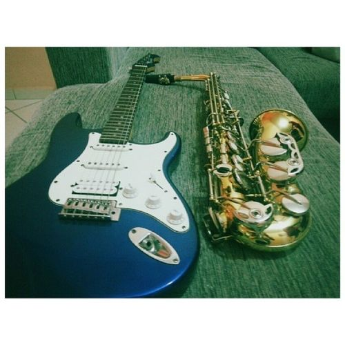 Passion for music ... Saxophone Sax Guitar Playguitar playsax music musician jazz blues rock