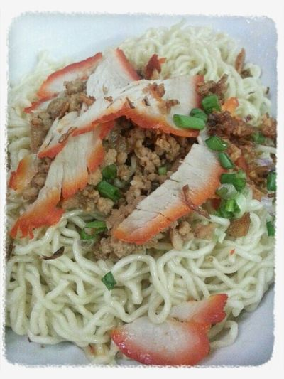 Sarawak Kolo Mee Noodles in Miri. Very different from the ones in Kuching. Sarawak Food Malaysian Food Food Food Blogger