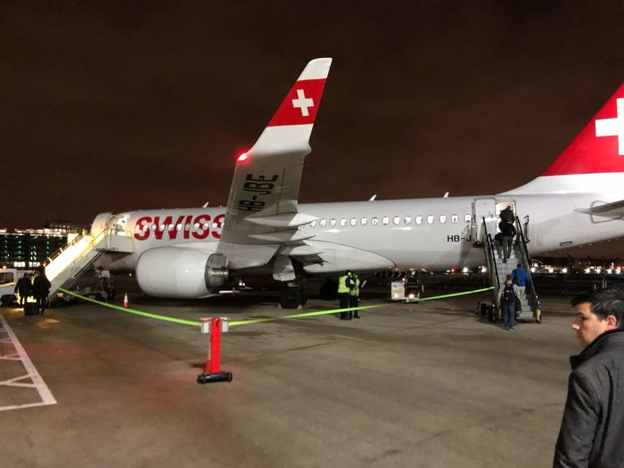 boarding swiss