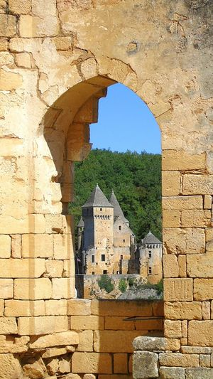 Landscape Window Castle Chateau De Commarque Moyen âge Stone Old Ruin Old Historic Fort Fortified Wall Fortress Medieval The Past