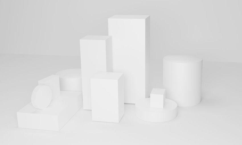 Close-up of white box