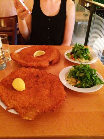 Thats what I call a Wiener Schnitzel😍 was hard to eat the whole but I did It💪🏼🍴 Check This Out Schnitzel Wien Wiener Schnitzel Traveling Interrail Foodporn Foodgasm Hungry Eat Eat And Eat