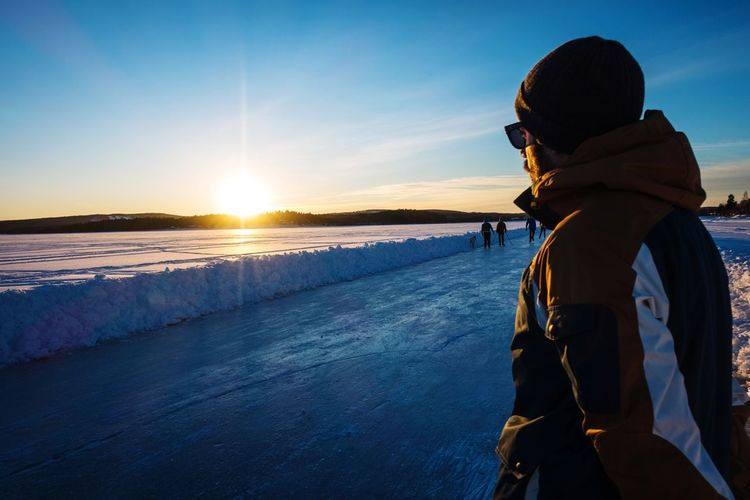 Outdoors Photograpghy  Nordic Light Water Sea Sunset Winter Cold Temperature Astronomy Snow Adventure Beach Men Ski Holiday Explorer Ski Jacket