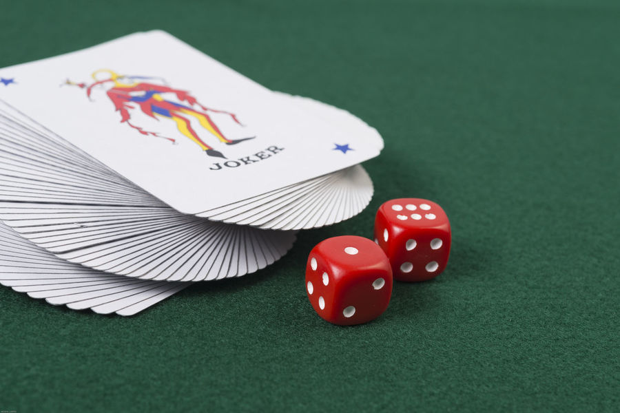 Gambling Odds Against Betting Card Cards Chance Close-up Day Deck Dice Dices Die Gambling Gambling Chip Indoors  Leisure Games Luck No People Pool Ball Pool Table Snooker Table