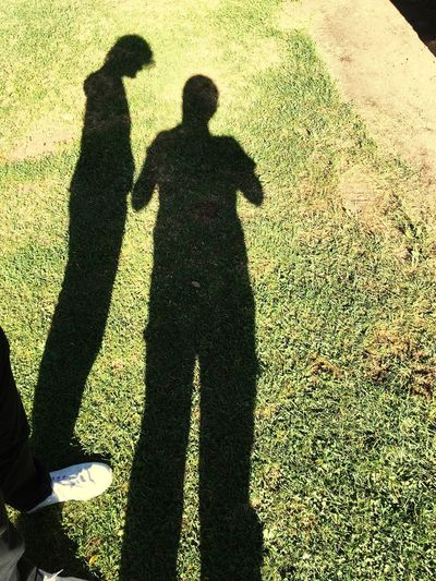 Shadow Real People Standing Focus On Shadow Leisure Activity Two People Men High Angle View Sunlight Lifestyles Grass Togetherness Day Low Section Women Outdoors Friendship Adult People Adults Only Mix Yourself A Good Time Press For Progress