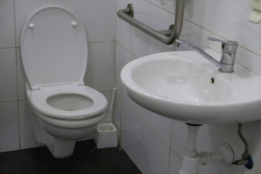Bathroom Toilet Domestic Room Hygiene Domestic Bathroom Indoors  Toilet Bowl Convenience Public Restroom Public Building No People White Color Clean Absence
