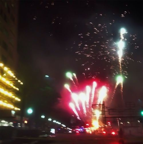 Awesome fireworks for Emancipation Day, on Pennsylvania Avenue