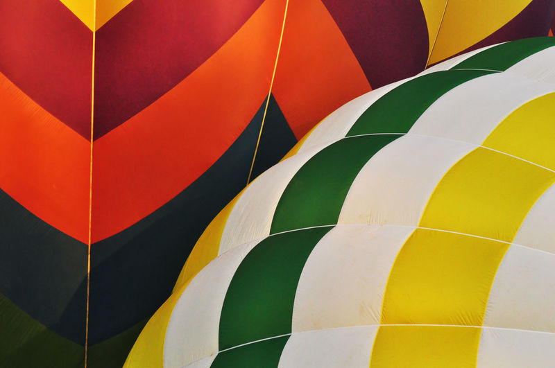 Full frame shot of hot air balloon