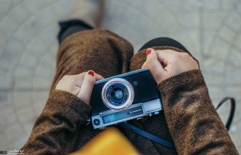 Girl Old Camera