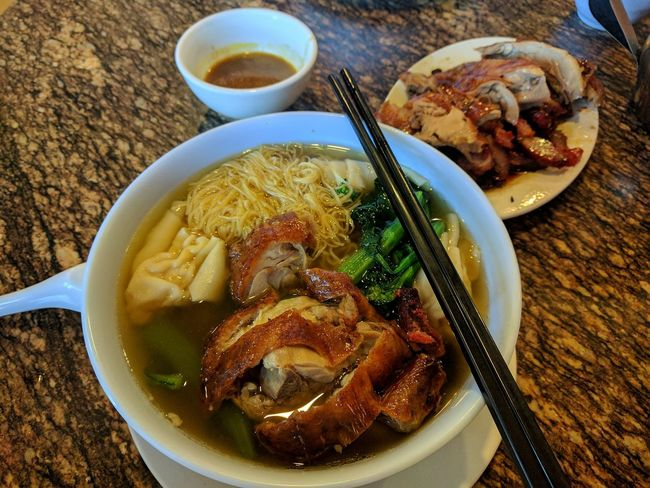 for our mother's soul (it was tasty and filling) Food And Drink Indulgence Soup Food Bowl Wonton Noodles Chinese Food Tasty😋 Yummy With My Sister  Roast Duck Chopsticks Noodle Soup EyeEm Gallery Taking Photos Mobile Photography Food Photography Meal Ready-to-eat Let's Go. Together.