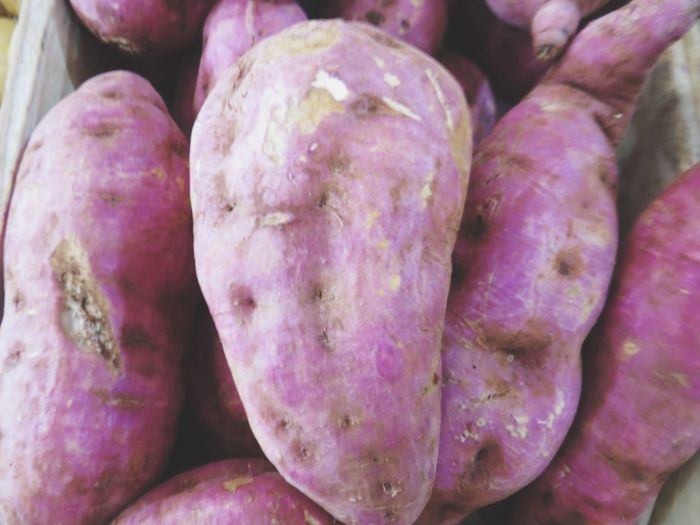 Close-up of purple for sale at market stall