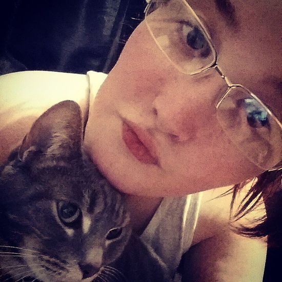 Messin about with the sisters glasses!'😂 Messingabout Glasses KittyKat Cat Random