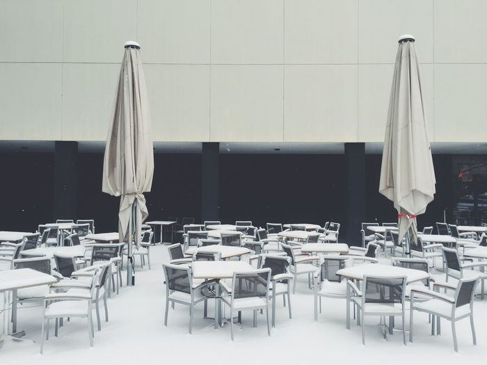 View of empty chairs