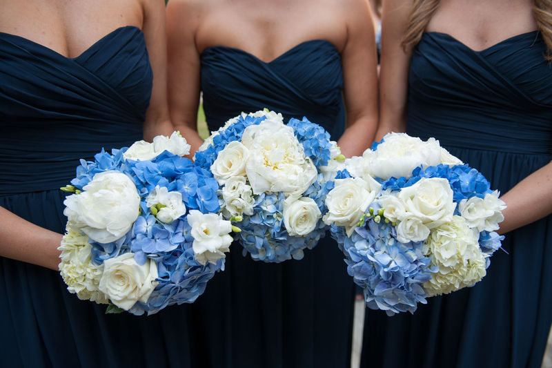 Wedding bouquets Blue Bouquet Bridesmaid Close-up Flower Friendship Midsection Outdoors Togetherness Tradition Wedding Wedding Photography