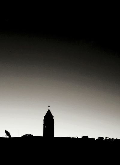 Architecture Silhouette Travel Destinations Sky No People City Night Outdoors Church Blackandwhite Black And White Black & White