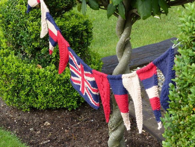Fabric Texture Knitted Union Jack Union Jack Flag Union Jack Knitting Knitted Bunting